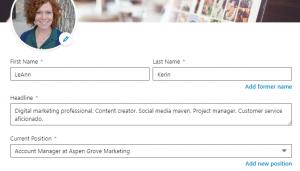 LinkedIn Profile Setup