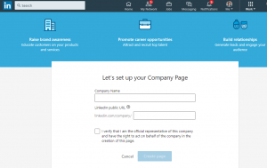 how to create company page snapshot